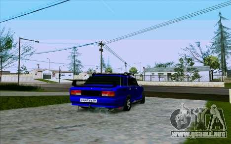 VAZ 2107 de Optimización para la visión correcta GTA San Andreas