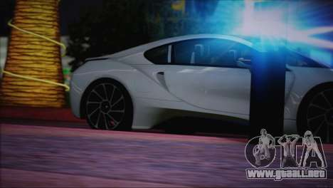 BMW i8 Coupe 2015 para GTA San Andreas interior