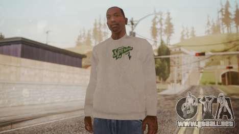 Sprunk Sweater Gray para GTA San Andreas segunda pantalla
