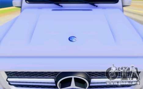 Mercedes-Benz G65 AMG para GTA San Andreas interior