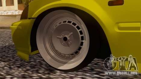 Honda Civic Taxi para GTA San Andreas vista posterior izquierda