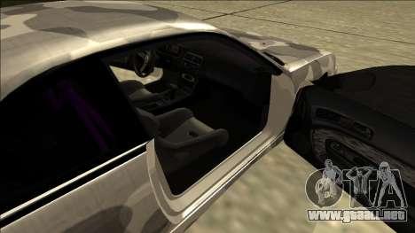 Nissan Silvia S14 Army Drift para GTA San Andreas vista posterior izquierda