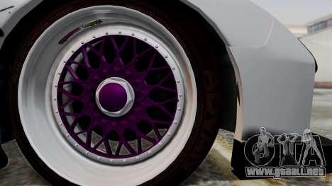 Mazda RX-7 Black Rock Shooter Itasha para GTA San Andreas vista posterior izquierda