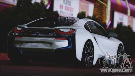 BMW i8 Coupe 2015 para la visión correcta GTA San Andreas