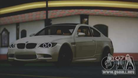 BMW M3 E92 2008 para vista lateral GTA San Andreas