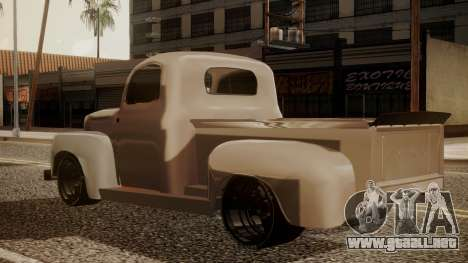 Ford F-100 1948 Simple Black Edition para GTA San Andreas left