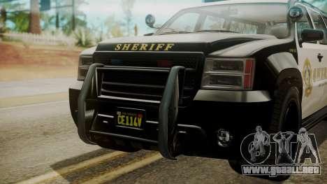 GTA 5 Declasse Granger Sheriff SUV IVF para la visión correcta GTA San Andreas