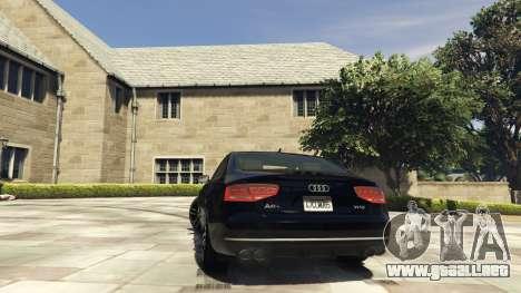 GTA 5 Audi A8 v1.1 vista lateral izquierda trasera