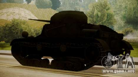 T2 Light Tank para GTA San Andreas left