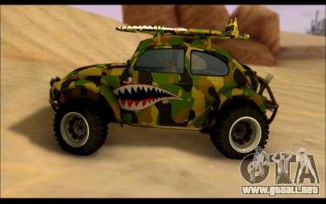 Volkswagen Baja Buggy Camo Shark Mouth para GTA San Andreas left