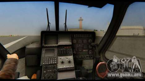 KA 60 Kasatka para GTA San Andreas vista hacia atrás