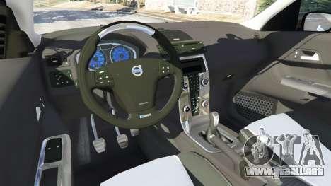 GTA 5 Volvo C30 T5 vista lateral trasera derecha