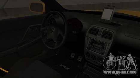 Subaru Impreza WRX GDA para la visión correcta GTA San Andreas