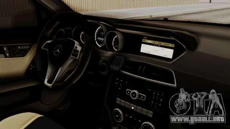Mercedes-Benz C63 AMG STSI el Ministerio de Asun para la visión correcta GTA San Andreas
