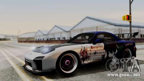 Mazda RX-7 Black Rock Shooter Itasha para GTA San Andreas