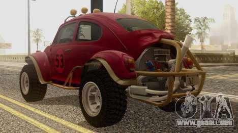 Volkswagen Beetle Baja Bug para GTA San Andreas left