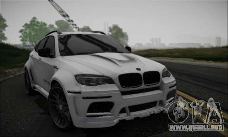 BMW X6M HAMANN Final para visión interna GTA San Andreas