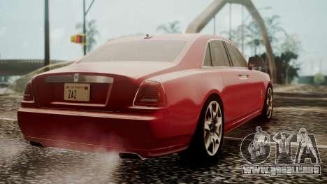 Rolls-Royce Ghost v1 para GTA San Andreas left