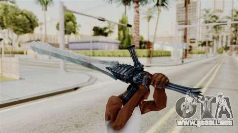 Katana from RE6 para GTA San Andreas tercera pantalla
