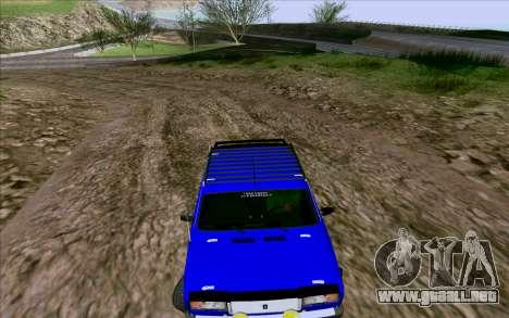 VAZ 2107 de Optimización para visión interna GTA San Andreas