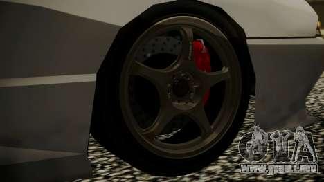 Elegy NR32 without Neon para GTA San Andreas vista posterior izquierda