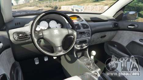GTA 5 Peugeot 206 GTI vista lateral derecha