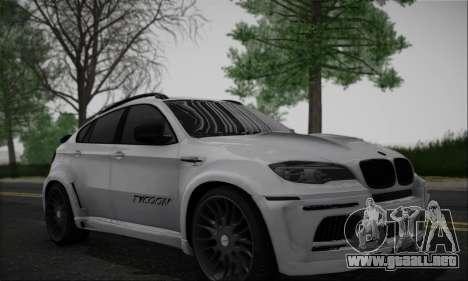 BMW X6M HAMANN Final para GTA San Andreas left