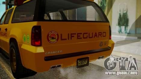 GTA 5 Declasse Granger Lifeguard IVF para la vista superior GTA San Andreas