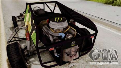 Buggy Camo Shark Mouth para visión interna GTA San Andreas