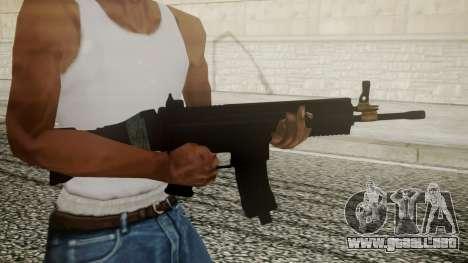 SCAR-L Battlefield 3 para GTA San Andreas tercera pantalla