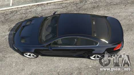 GTA 5 BMW M6 (E63) WideBody v0.1 vista trasera