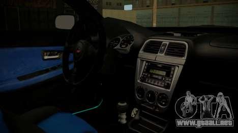 Subaru Impreza 2004 para la visión correcta GTA San Andreas