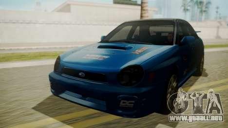 Subaru Impreza WRX GDA para la vista superior GTA San Andreas