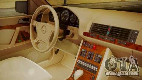 Mercedes-Benz W140 para la visión correcta GTA San Andreas