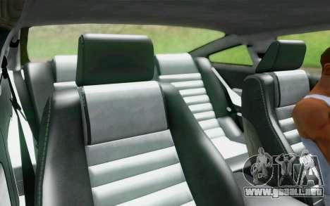 Ford Mustang GT 2005 para la vista superior GTA San Andreas