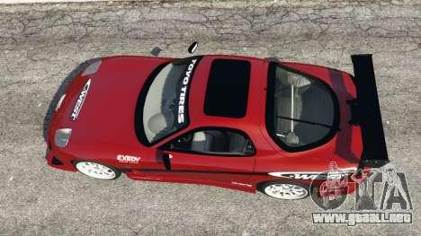 GTA 5 Mazda RX-7 C-West v1.0 vista trasera