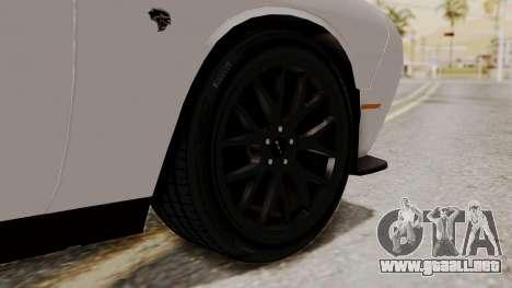 Dodge Challenger SRT Hellcat 2015 HQLM PJ para GTA San Andreas vista posterior izquierda