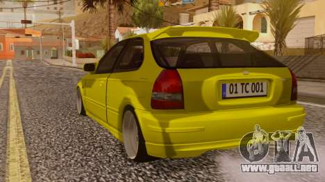Honda Civic Taxi para GTA San Andreas left