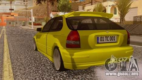 Honda Civic Taxi para GTA San Andreas left
