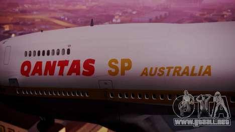 Boeing 747SP Qantas Gold para la visión correcta GTA San Andreas