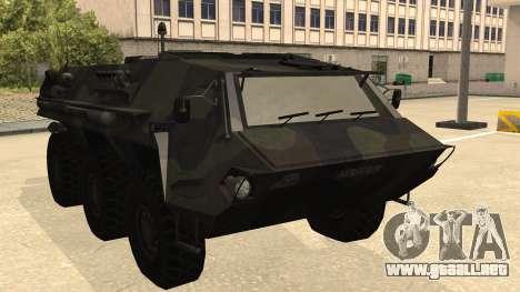 TPz 1 Fuchs Hummel para GTA San Andreas vista posterior izquierda