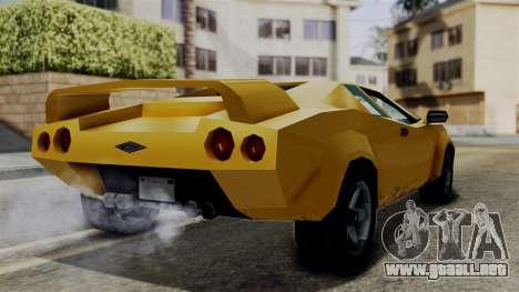 Infernus from Vice City Stories para la visión correcta GTA San Andreas