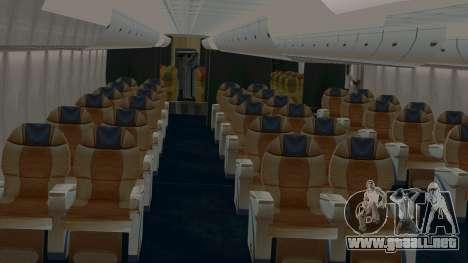 Airbus A380-800 British Overseas Airways Corp. para visión interna GTA San Andreas