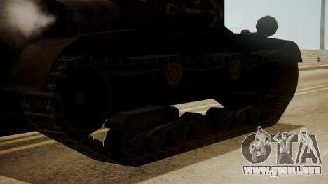 T2 Light Tank para GTA San Andreas vista posterior izquierda