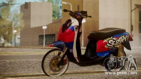 Honda Scoopy New Red and Blue para GTA San Andreas