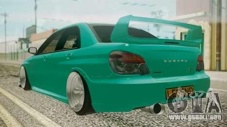 Subaru Impreza 2004 para GTA San Andreas left