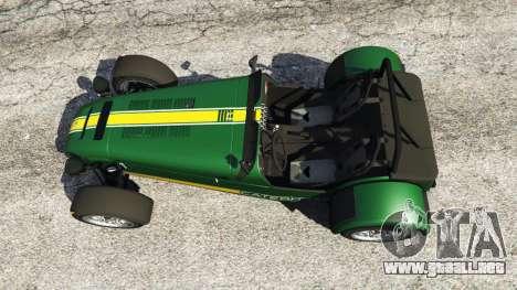 GTA 5 Caterham Super Seven 620R v1.5 [green] vista trasera