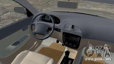 Daewoo Nubira I Spagon 1.8 DOHC 1998 para GTA 4 vista hacia atrás
