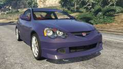 Honda Integra Type-R without license plate para GTA 5