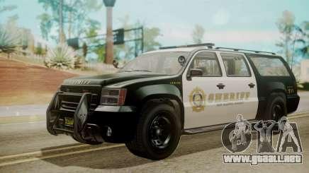 GTA 5 Declasse Granger Sheriff SUV IVF para GTA San Andreas